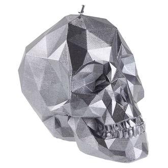 sviečka Skull - Steel
