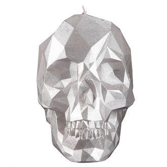 sviečka Skull - Silver