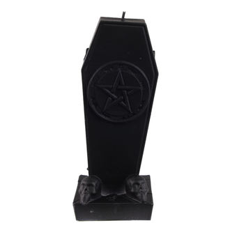 sviečka Coffin with Pentagram - Black Matt