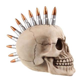 lebka (pokladnička) Skull with bullets
