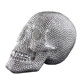dekorácia (lebka) Skull - Silver