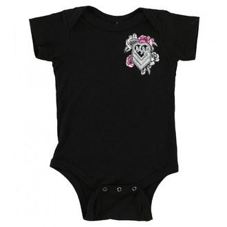 body detské METAL MULISHA - BABY GIRL ONESIE - BLK, METAL MULISHA