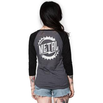 tričko dámske s 3/4 rukávom METAL MULISHA - RIDER BURNOUT, METAL MULISHA