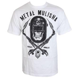 tričko pánske METAL MULISHA - TORCHED - WHT, METAL MULISHA