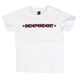 tričko detské INDEPENDENT - Bar Cross - White, INDEPENDENT