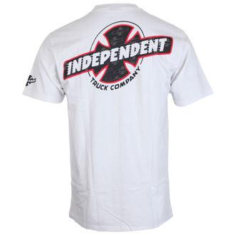 tričko pánske INDEPENDENT - Slant Btg Fill White, INDEPENDENT