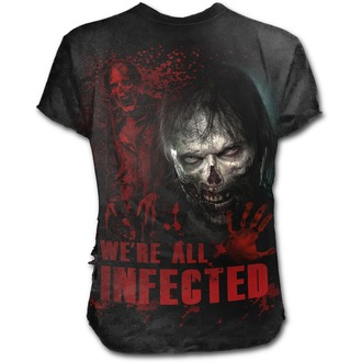 tričko pánske SPIRAL - ZOMBIE - ALL INFECTED - Walking Dead Ripped - Black, SPIRAL