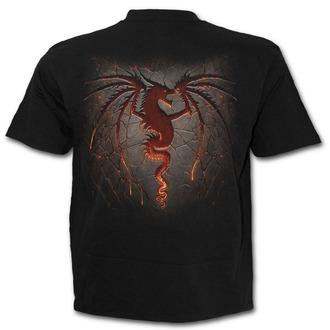 tričko pánske SPIRAL - Dragon Furnace - Black, SPIRAL