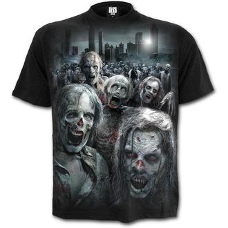 tričko pánske SPIRAL - ZOMBIE HORDE - Walking Dead - Black, SPIRAL