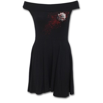šaty dámske SPIRAL - WHITE ROSE