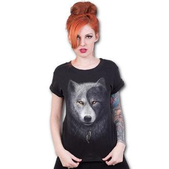 tričko dámske SPIRAL - WOLF CHI - Black, SPIRAL