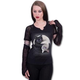 tričko dámske s dlhým rukávom SPIRAL - YIN YANG CATS, SPIRAL