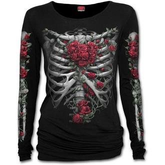 tričko dámske SPIRAL - ROSE BONES - Baggy - Black, SPIRAL
