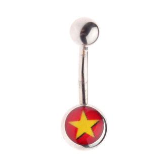 piercingový šperk - Star / Red, NNM