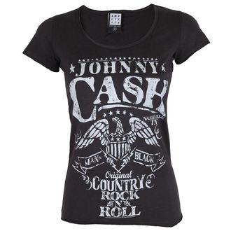 tričko dámske AMPLIFIED - JOHNNY CASH - EAGLE, AMPLIFIED, Johnny Cash