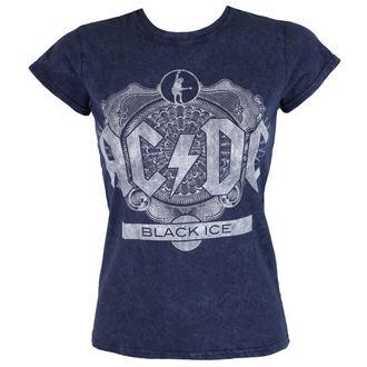 tričko dámske AC/DC - Black Ice - Denim - ROCK OFF, ROCK OFF, AC-DC