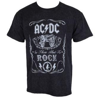 tričko pánske AC/DC - Cannon Swig - Black - ROCK OFF, ROCK OFF, AC-DC