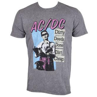 tričko pánske AC/DC - DDDDC - Charcoal - ROCK OFF, ROCK OFF, AC-DC