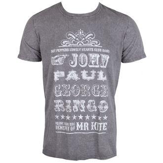 tričko pánske The Beatles - Mr Kite - Charcoal - ROCK OFF, ROCK OFF, Beatles