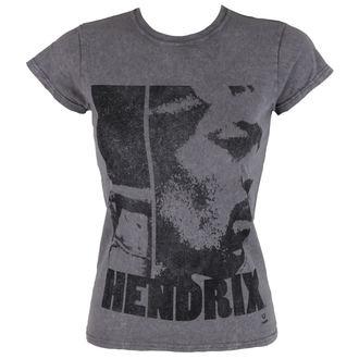 tričko dámske Jimi Hendrix - Let Me Live - Charcoal - ROCK OFF, ROCK OFF, Jimi Hendrix