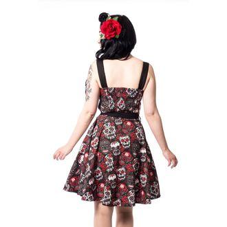 šaty dámske Rockabella - CARMEN - BLACK, ROCKABELLA