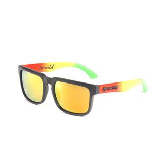 okuliare slnečné MEATFLY - Foggy - B - Black/Rasta, MEATFLY