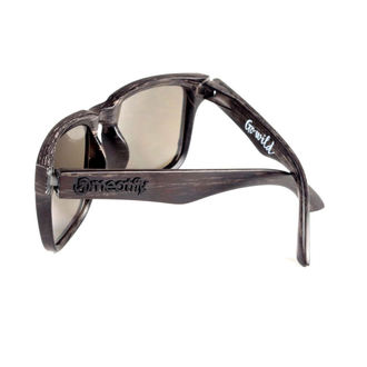 okuliare slnečné MEATFLY - Foggy - D - Black Wood, MEATFLY
