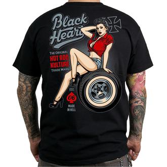 tričko pánske BLACK HEART - REBECCA - BLACK, BLACK HEART