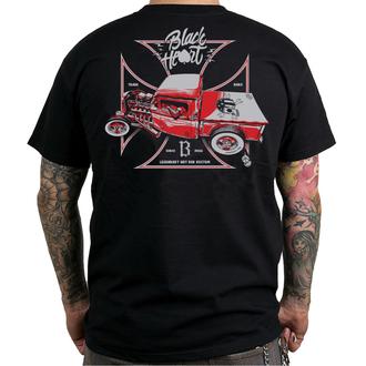 tričko pánske BLACK HEART - RED ROD PICK UP - BLACK, BLACK HEART