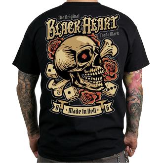 tričko pánske BLACK HEART - GAMBLE - BLACK, BLACK HEART