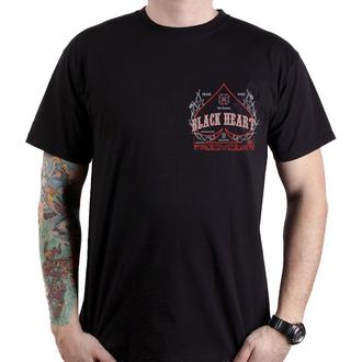 tričko pánske BLACK HEART - FLAME CHOPPER - BLACK, BLACK HEART