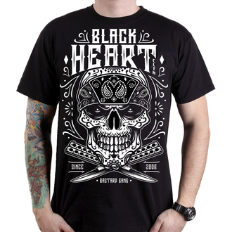 tričko pánske BLACK HEART - BANDANA SKULL - BLACK, BLACK HEART