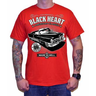tričko pánske BLACK HEART - CADILLAC - RED, BLACK HEART