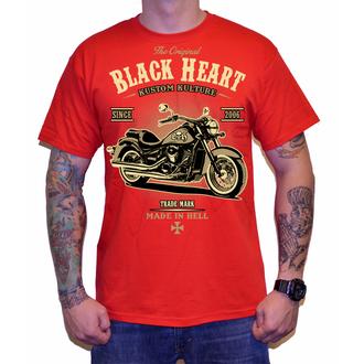 tričko pánske BLACK HEART - HARLEY - RED, BLACK HEART