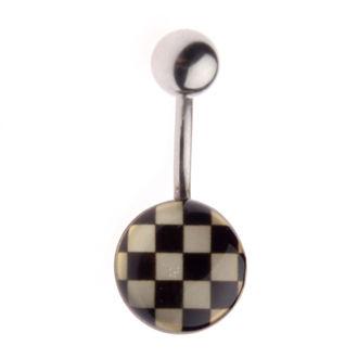 piercingový šperk Šachovnica - L-029