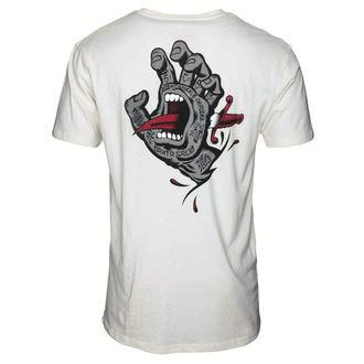 tričko pánske SANTA CRUZ - Flash Hand Colour - SCATEE-161 VINTAGE WHITE