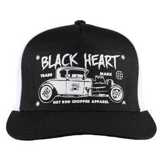 šiltovka BLACK HEART - HOT ROD CROSS - WHITE, BLACK HEART