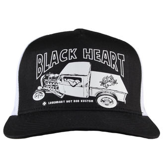 šiltovka BLACK HEART - PICK UP MARK - WHITE, BLACK HEART