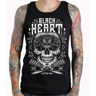 tielko pánske BLACK HEART - BANDANA SKULL - BLACK, BLACK HEART