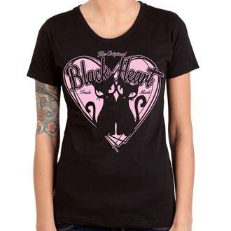 tričko dámske BLACK HEART - PUSSY CATS - BLACK, BLACK HEART