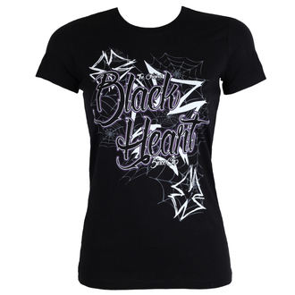 tričko dámske BLACK HEART - CROSS - BLACK, BLACK HEART