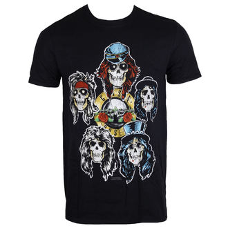 tričko pánske Guns N' Roses - Vintage Heads - Black - ROCK OFF, ROCK OFF, Guns N' Roses