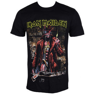 tričko pánske Iron Maiden - Stranger Sepia - Black - ROCK OFF, ROCK OFF, Iron Maiden