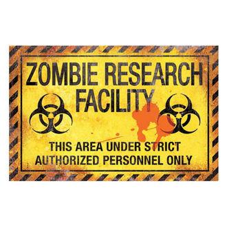 ceduľa Zombie research facility