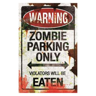 dekorácia (ceduľa) Zombie Parkovisko