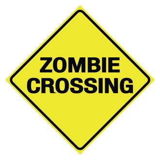 ceduľa Zombie Crossing