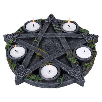 svietnik (dekorácia) Wiccan Pentagram Tea