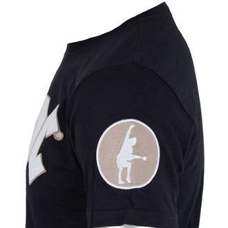tričko pánske AC/DC - Logo & Angus Applique Slub - Navy - ROCK OFF, ROCK OFF, AC-DC