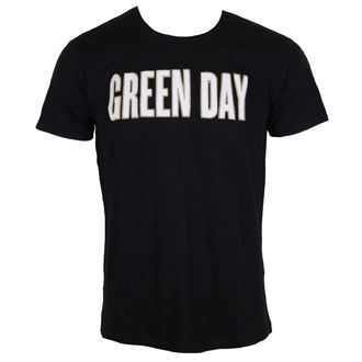 tričko pánske Green Day - Logo & Grenade Applique Slub - Black - ROCK OFF, ROCK OFF, Green Day