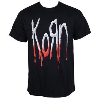tričko pánske Korn - Bloody Logo - Black, Korn